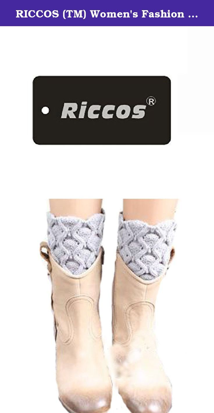 RICCOS (TM) Women's Fashion Winter Knitted Warm Boot Cuffs Leg Warmer (Light Grey). It is very warm and the design is keep up with the fashion. RICCOS knitted and Multi Colors leggings for a fun and fashionable effect.