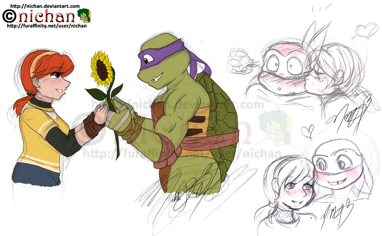 Tmnt 2012 Donnie X April By Nichan Memes Divertidos Memes