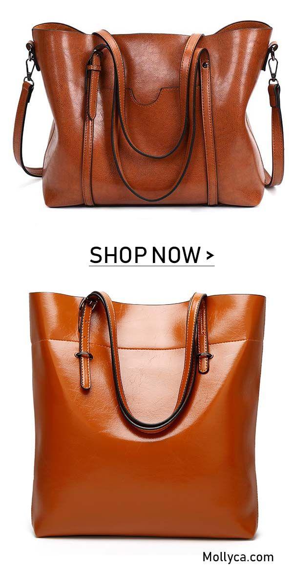Buy 2 Got 5 Off Code Mollyca Women Oil Leather Tote Handbags Casual Front Pockets Crossbody Bags Shoulder Bags Sac Cuir Sac Sac A Main
