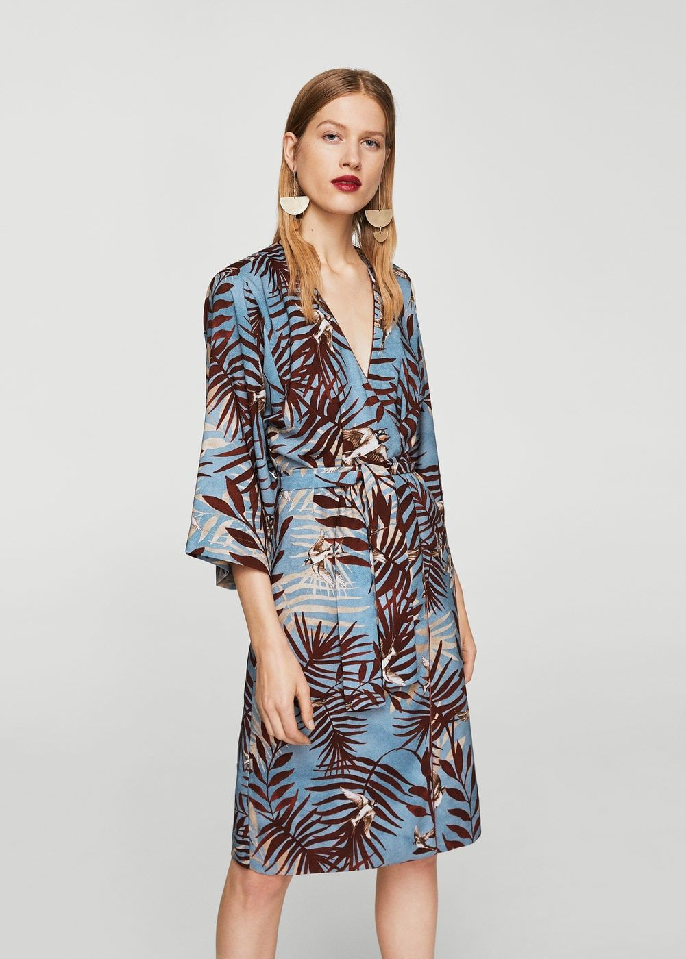 89ac8f0267648 Vestido estampado hojas - Mujer en 2019