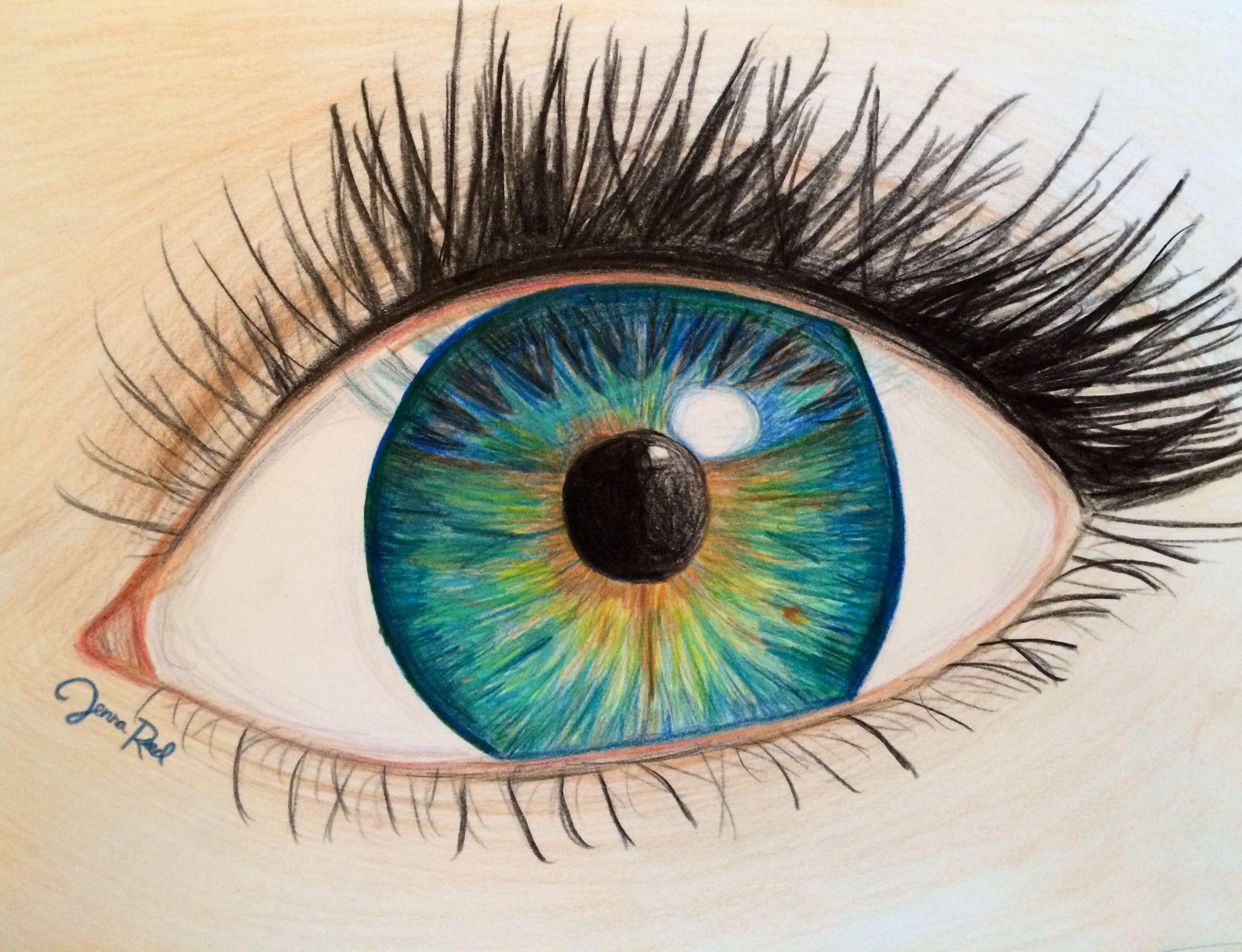 Картинки карандашом легкие глаз