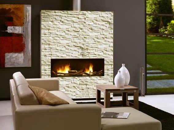 Bioetanol Kamin dekorativni kamin na bioetanol elegance oblečen v dekorativni kamen