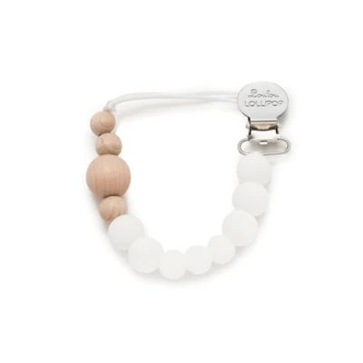 Three Little Tots Beaded Silicone Paci Clip Anna