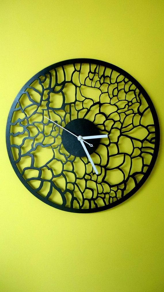 Black wall clock, WALL CLOCK 15.7\