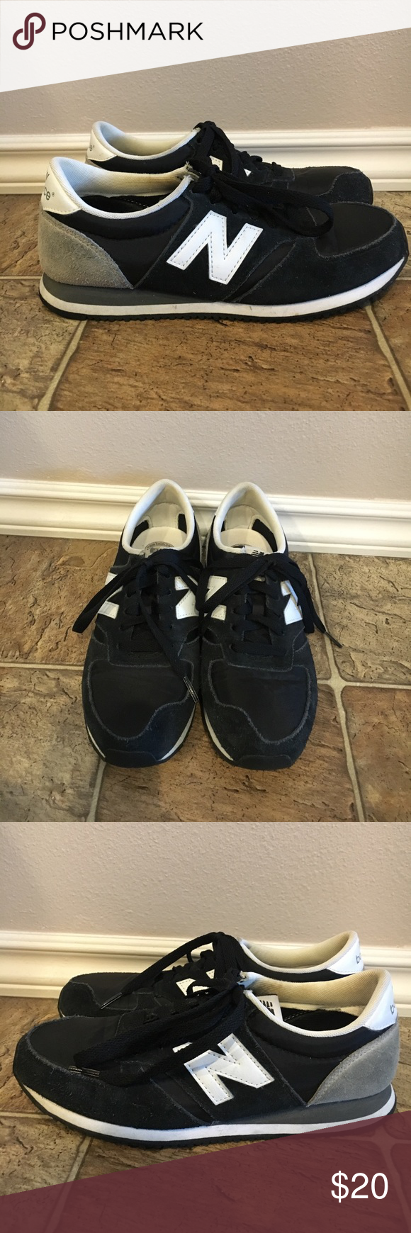 New balance 420- Black suede Used New Balance 420. Color Black. Size 7. Sides have some wear on suede from rubbing but overall decent condition. New Balance Shoes Sneakers