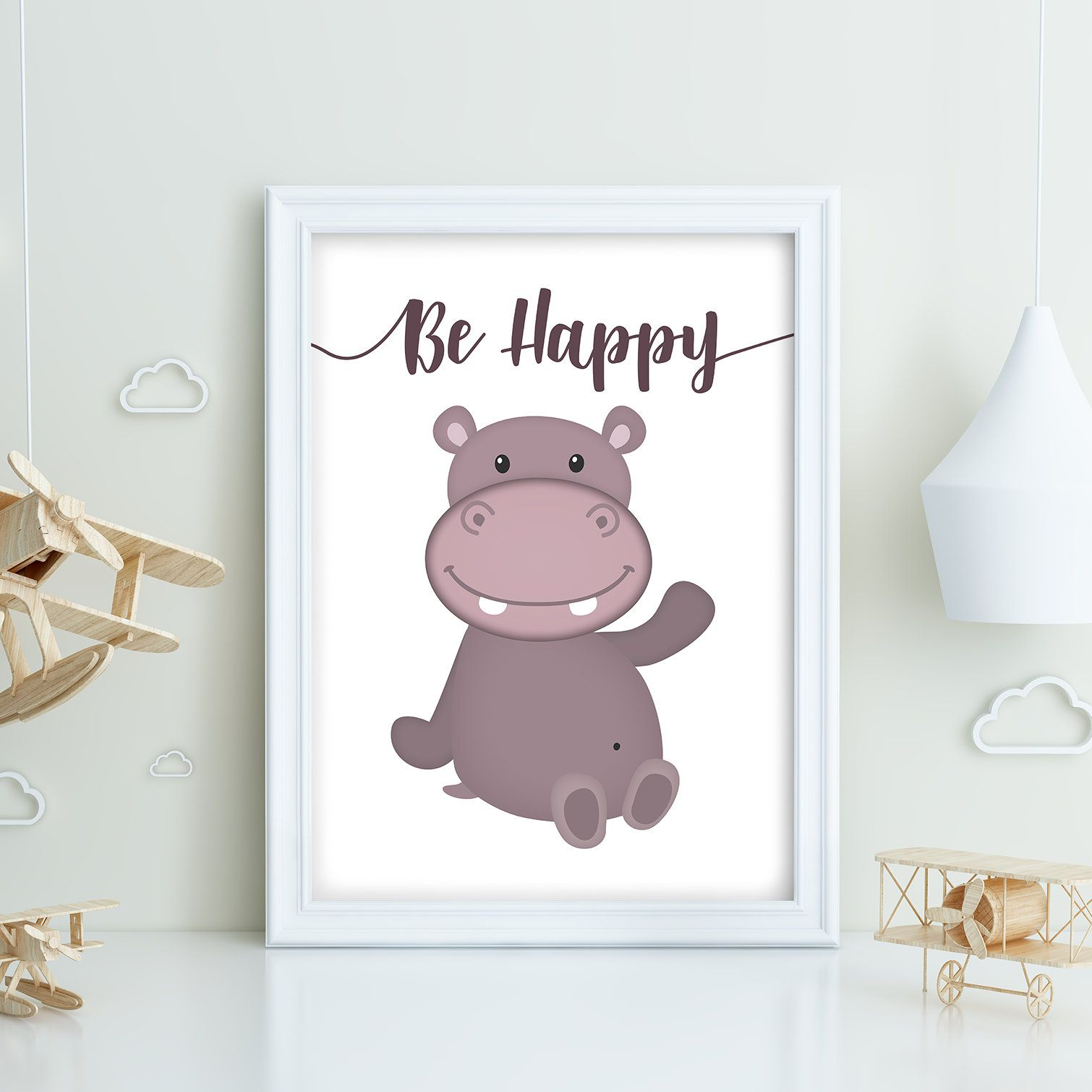 baby bedroom wall art on Purchase This A4 Or A3 Size Printed Version Of The Happy Hippo At Www Splashseven Etsy Com Smiley Hipp Childrens Wall Art Kids Bedroom Decor Bedroom Wall Art