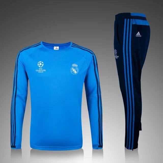 buy online 28673 81a6b Real Madrid 2015/16 Champion League Light Blue Men Tracksuit ...