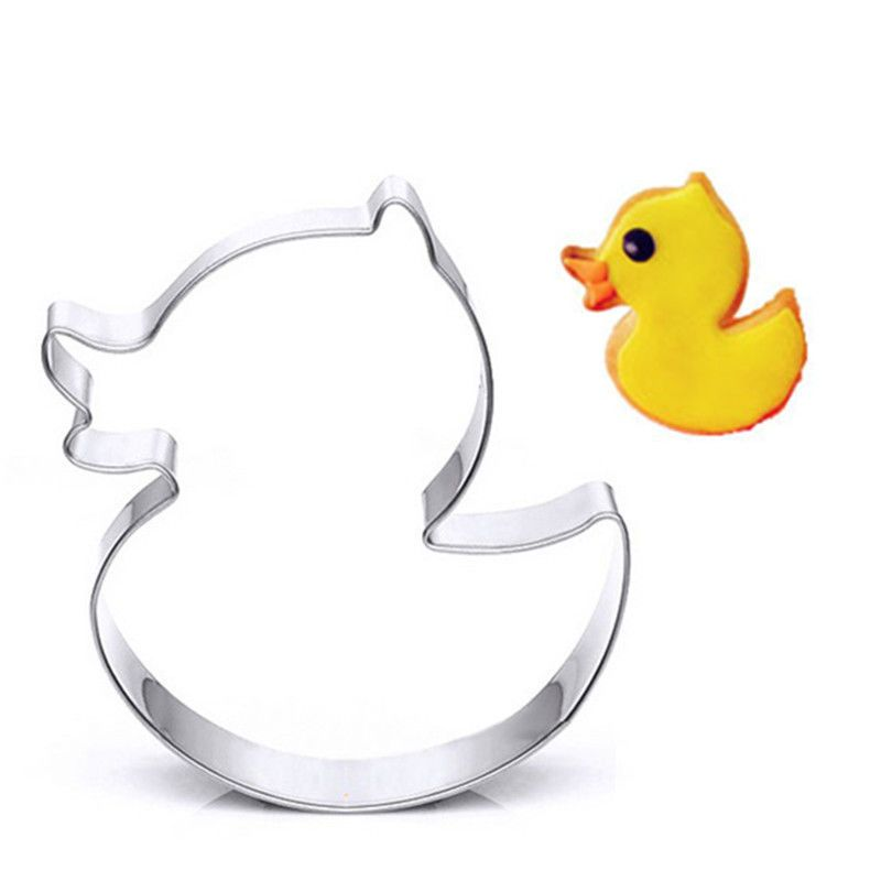 Cute Duck Frame Stainless Steel Cookie Cutter Mold Baking Pastry DIY ...