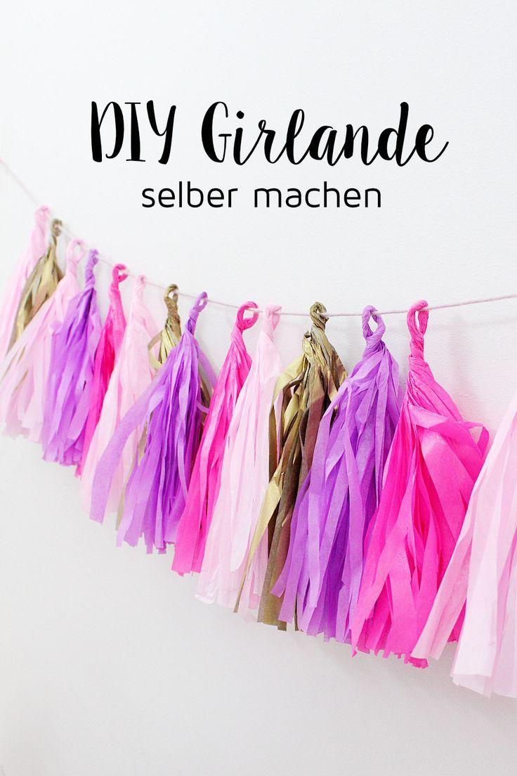 Photo of DIY Party Girlande aus Seidenpapier selber machen + Schreibtisch-