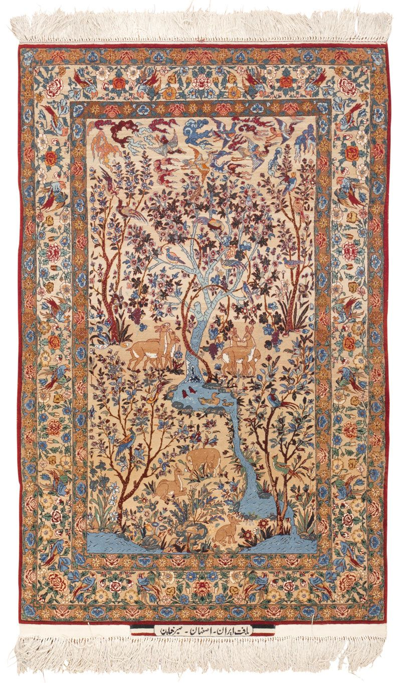 Isfahan seyrafian persian rug texturas pinterest for Tapetes orientales