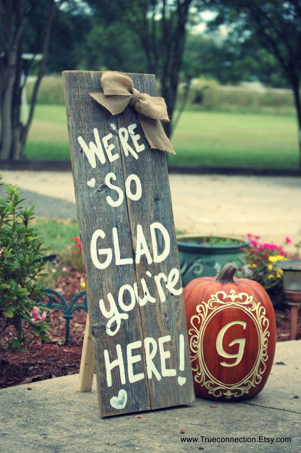 The home front porches porch signs wooden animal signs wooden signs - Standing Fall Porch Sign Welcome Sign Home Were So Glad Your Here Yard Sign Name Farm Wooden