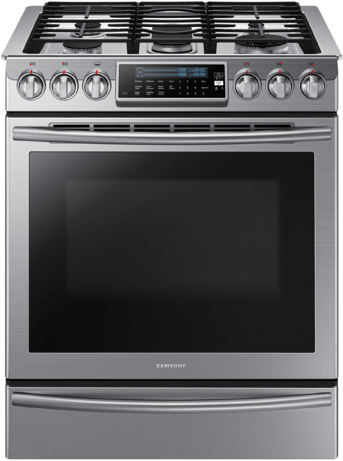 5 8 cu ft Slide In Gas Range w Intuitive Controls Stainless