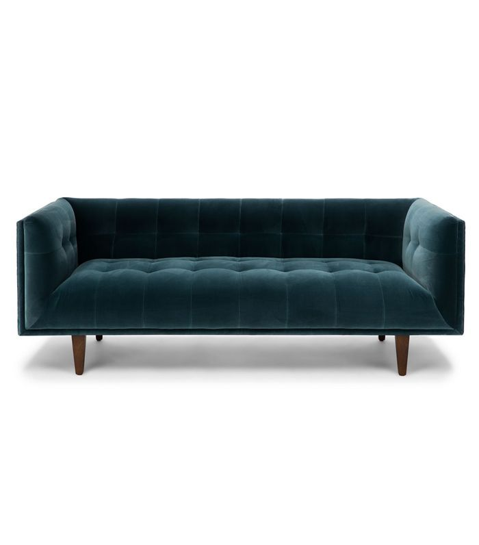 Blue Velvet Sofa, 3 Seater, Tufted | Article Cirrus Modern Furniture ...