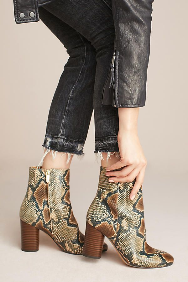 latest design detailed look best selling Sam Edelman Corra Snake Ankle Boots | Sam edelman boots, Boots ...