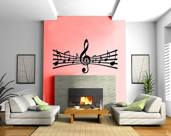 Music Notes Paper Decor Wall mural vinyl sticker by DesignToRefine ...