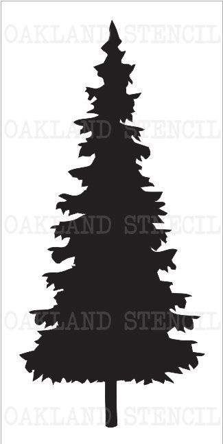 Christmas/Pine Tree #1 STENCIL **7 Sizes to Choose From** for ...