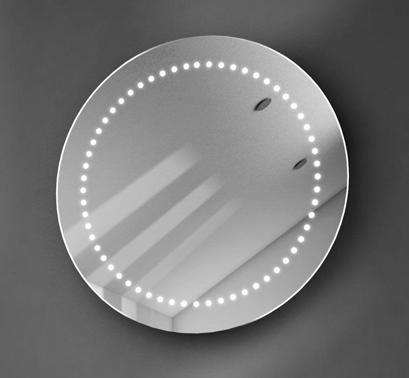 Ronde 50 cm spiegel met verlichting | Badkamer | Pinterest