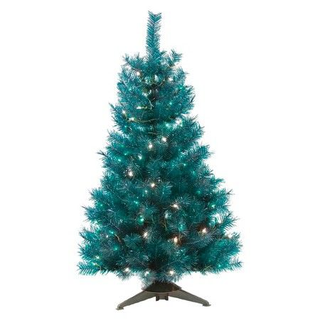 4 Ft Pre Lit Translucent Turquoise Artificial Christmas Tree Clear Lights Target Christmas Tree Clear Lights Artificial Christmas Tree Christmas Tree