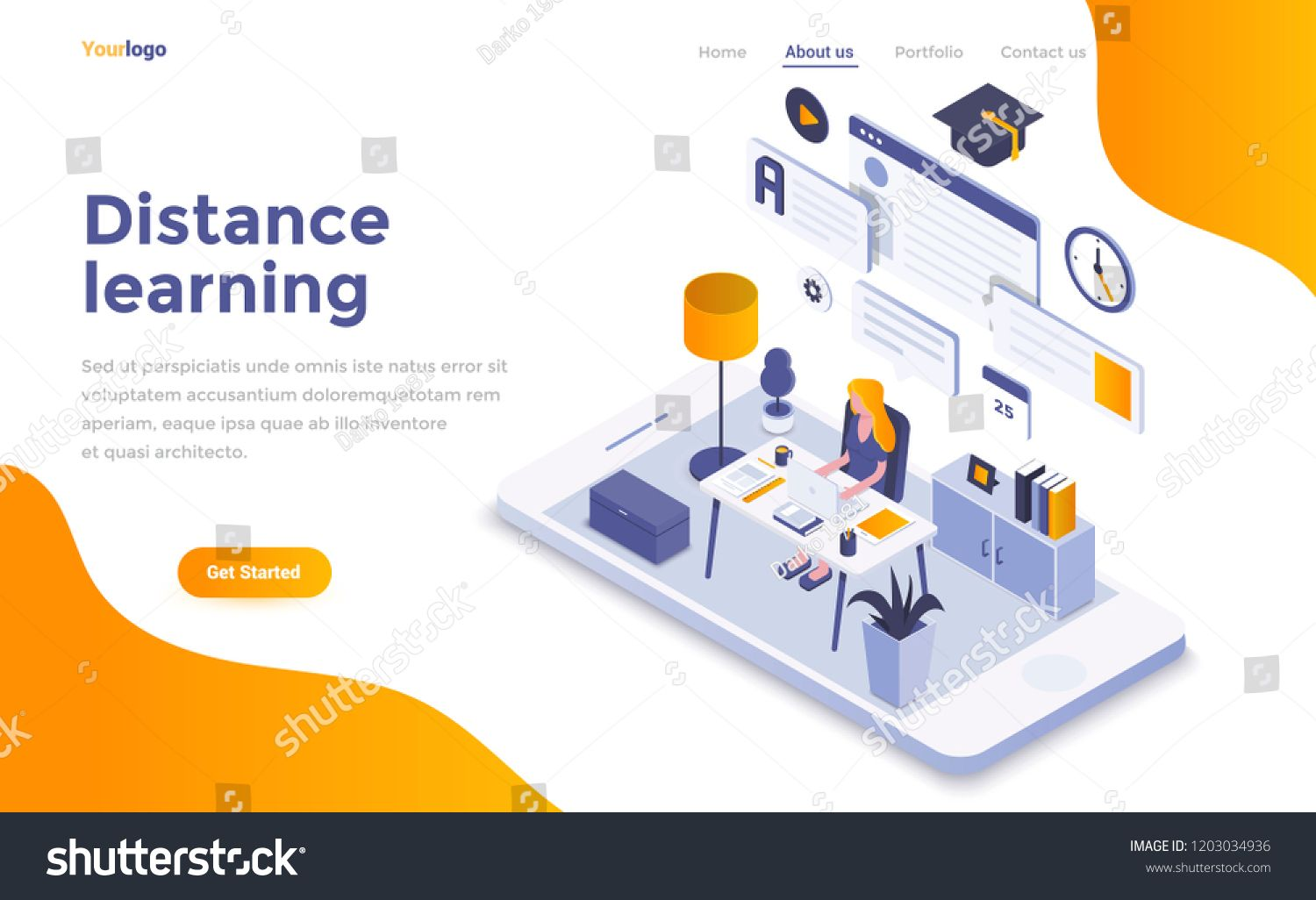 Cartoon Illustrations For Online Learning And Exam Via Mobile Apps Distance Learning Program For In 2020 Online Learning Distance Learning Programs Distance Learning