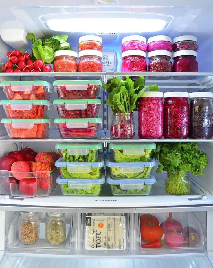 Tips For Organizing the Refrigerator Fridge organization