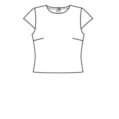 Bluzka-Top - numer wzorca 107 magazynu 9/2008 Burda - wzory na bluzki Burdastyle.ru