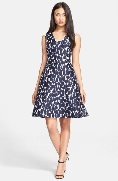 83c60836a6f kate spade new york leopard print fit   flare dress available at  Nordstrom