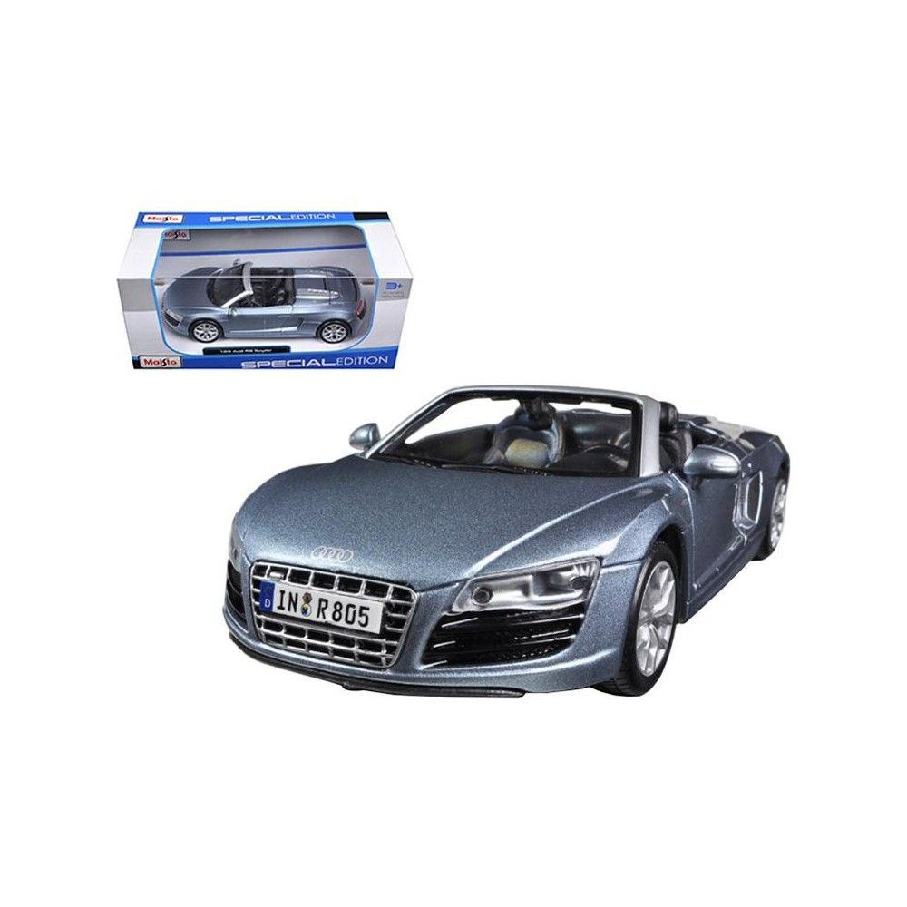 Audi R8 Spyder Blue 1 24 Diecast Car Model By Maisto In 2021 Audi R8 Spyder Car Model Audi R8