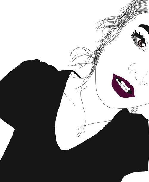 Art Noir Et Blanc Couleur Dessin Dessins Fille Grunge