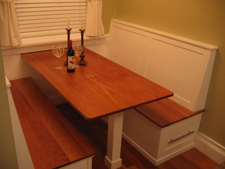 Kitchen Table Booth Seating Wooden kitchen table with booth seating combined with storage drawer wooden kitchen table with booth seating combined with storage drawer on wooden floor with restaurant banquette workwithnaturefo