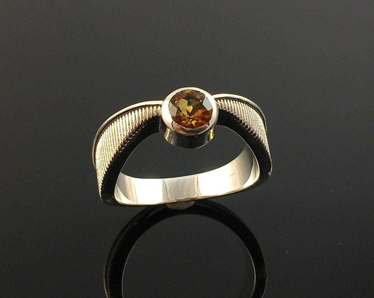 but this ring will be mine harry potter golden topaz snitch ring in sterling silver made to order geeky engagement ring - Harry Potter Wedding Rings