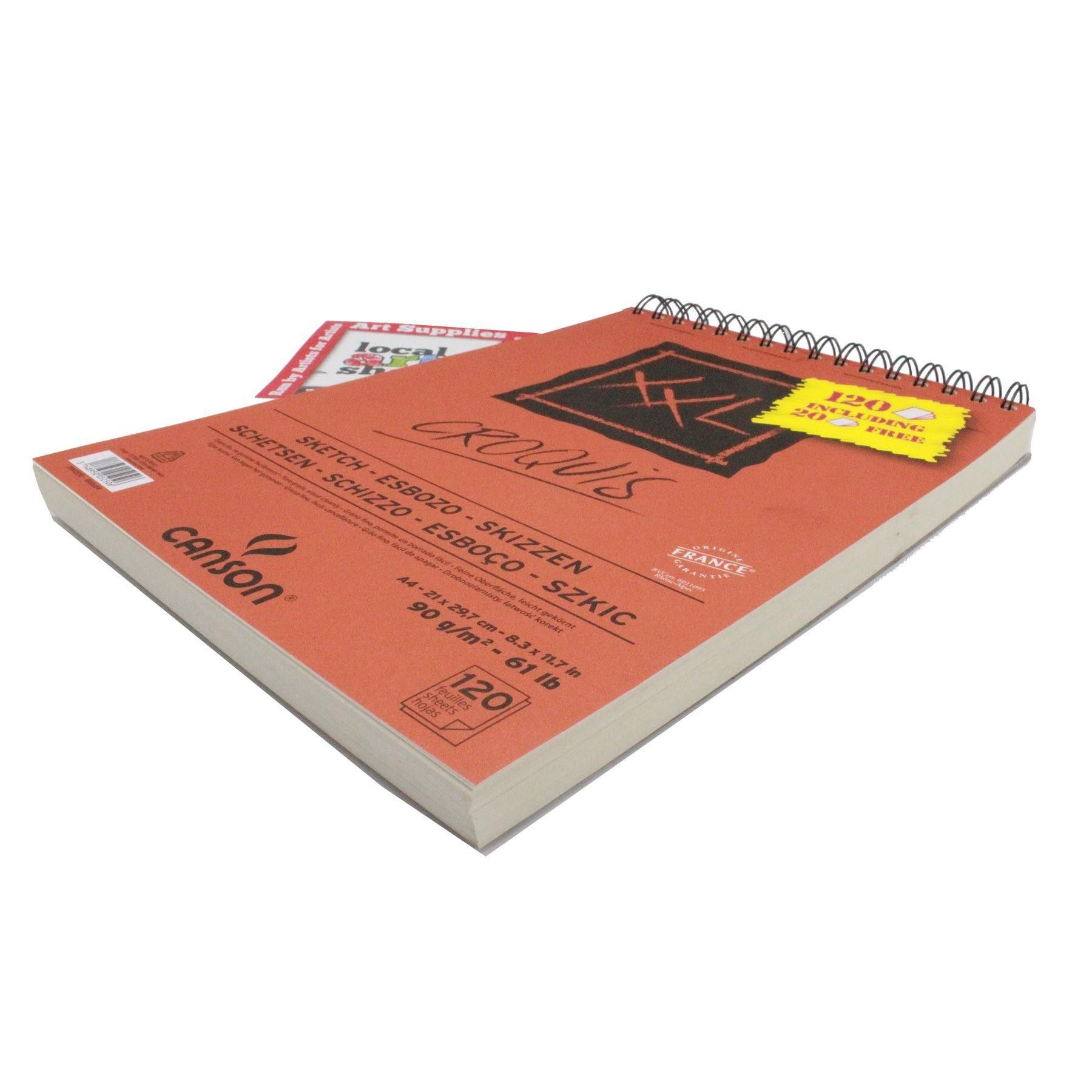 Canson Xxl Sketching Paper Pad Spiral A4 120 Sheets Paper 90g