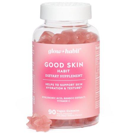 Glow Habit Good Skin Habit Gummy Vitamins 90 Count Walmart Com Good Skin Beauty Supplements Gummy Vitamins