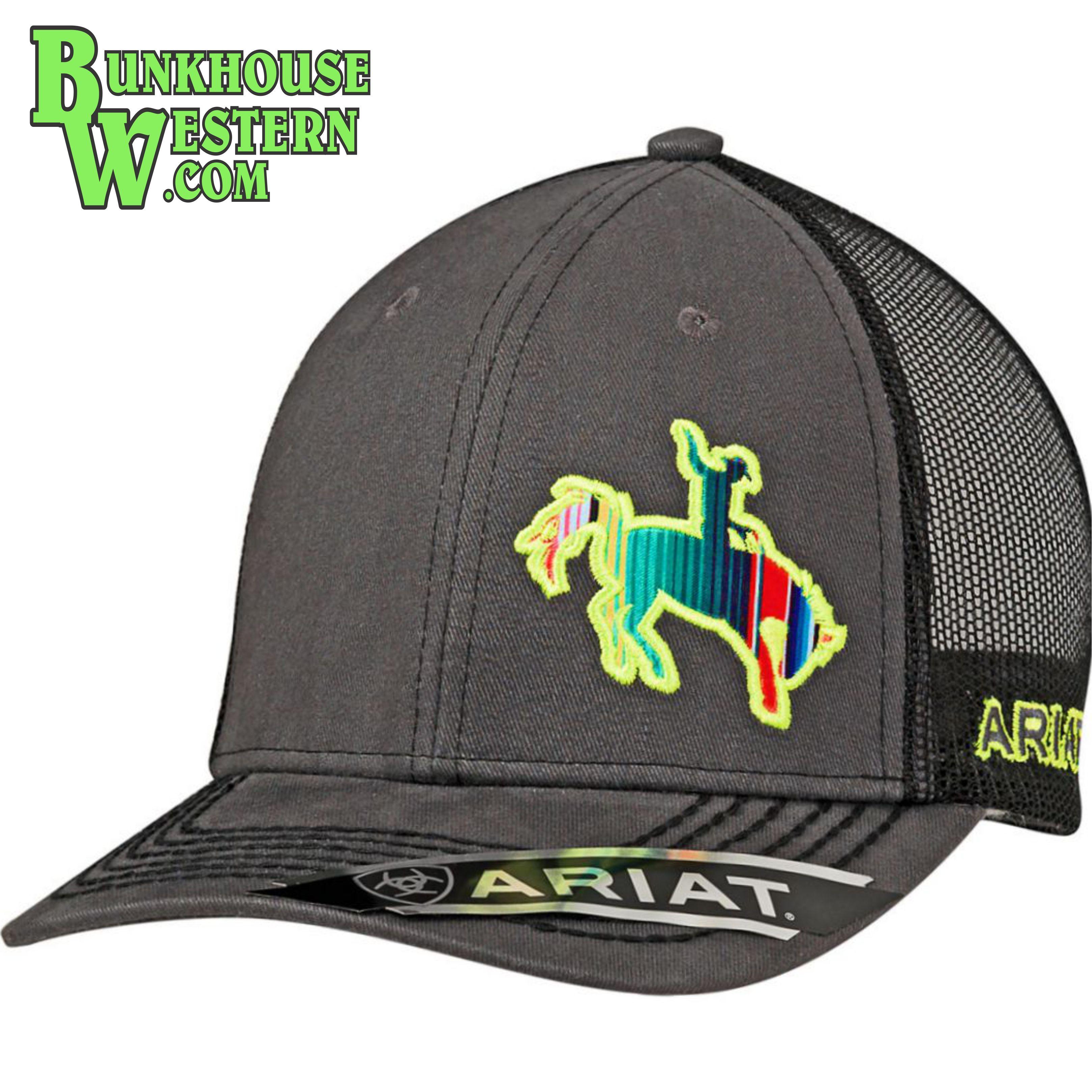 fe22cfb294b Ariat Gray Serape Bronc Rider Cap
