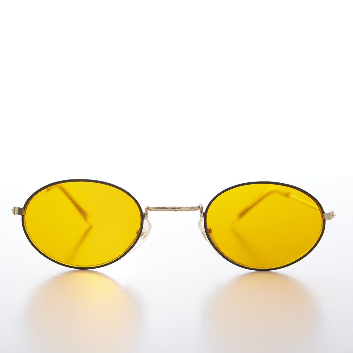 0859b16dbd4 Oval Yellow Lens Blue Blocker Vintage Sunglass - Mellow in 2019 ...