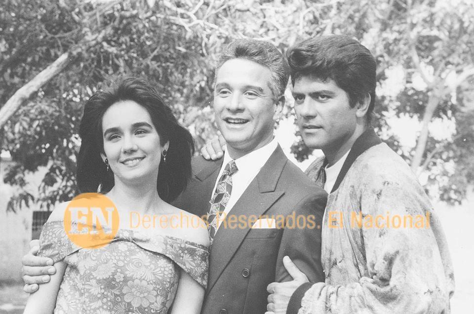 Aroldo Betancourt, María Alejandra Marti y Franklin Virgüez. protagonistas de la  telenovela venezolana estrenada en 1992 y producida por el canal Radio Caracas Televisión. Se emitió en el mismo a las 21:00 durante dos años, entre 1992 y 1994. Fue muy famosa en Venezuela.