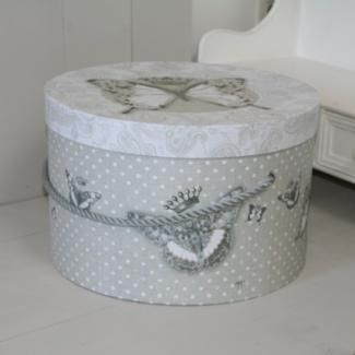 grande bo te chapeau mathilde m papillons d couvrir chez decoupage. Black Bedroom Furniture Sets. Home Design Ideas