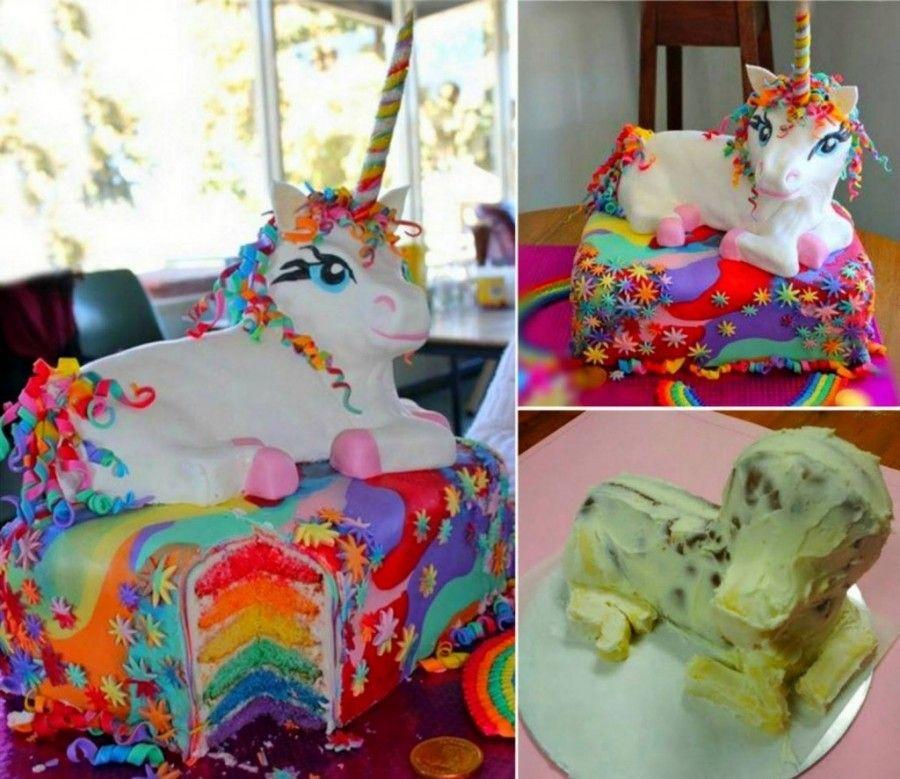 unicorn cake design red ribbon Pin on Bday Party Ideas