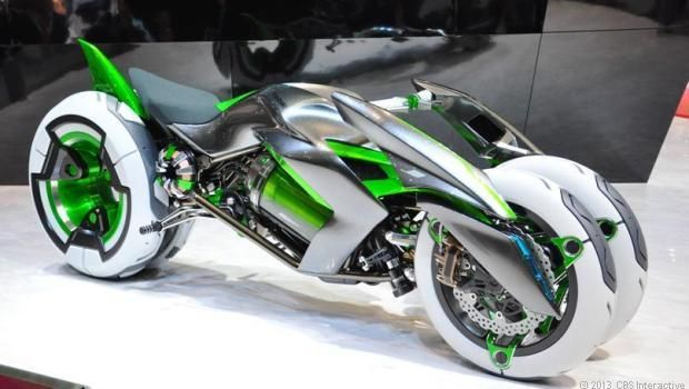 #Kawasaki J electric motorcycle - jaw-dropping concept at the Tokyo Motor Show this year is this unreal electric motorcycle concept from Kawasaki Heavy Industries