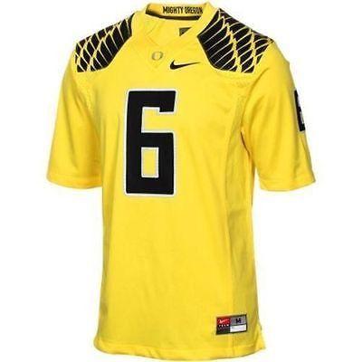 NWT Mens NIKE OREGON DUCKS Green #6 Replica Football Jersey style t-shirt XL