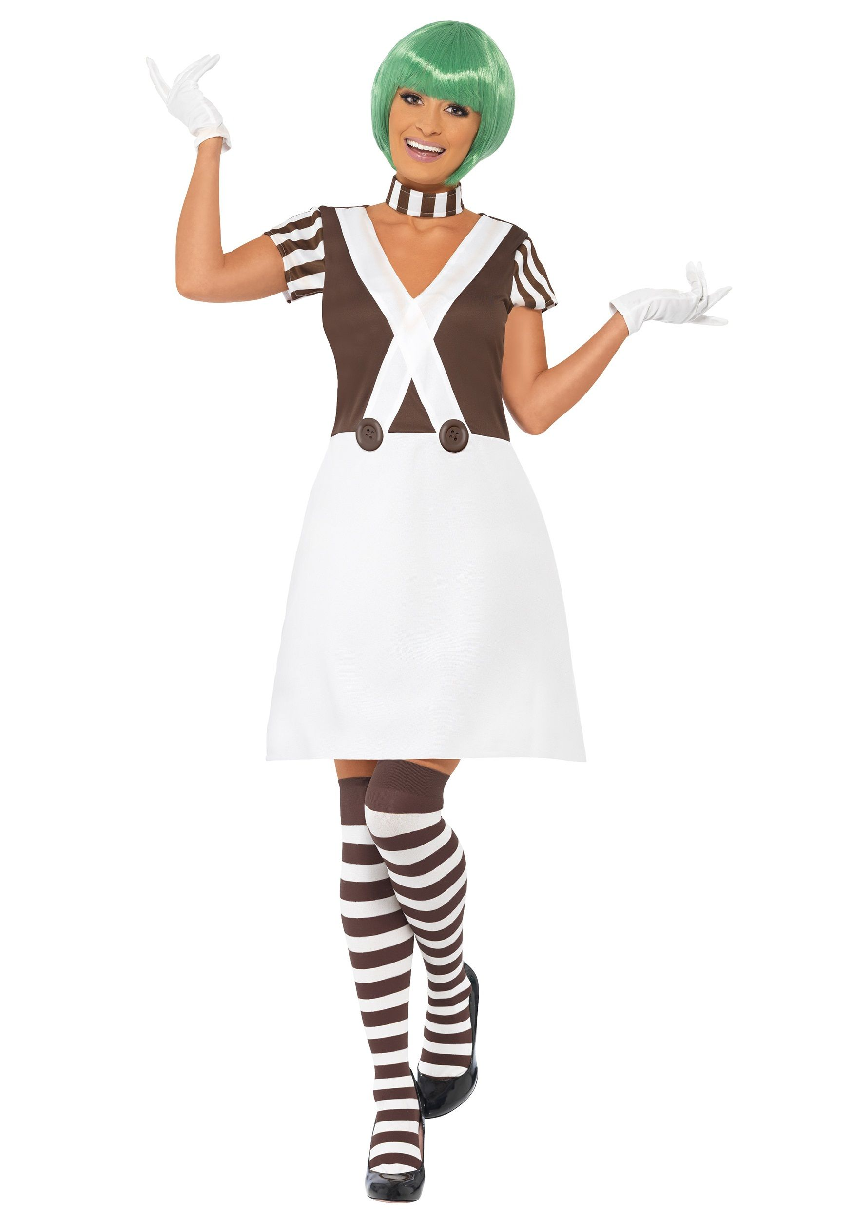 Charlie Oompa Loompa And The Chocolate Factory Fancy Dress 4 Piece Costume