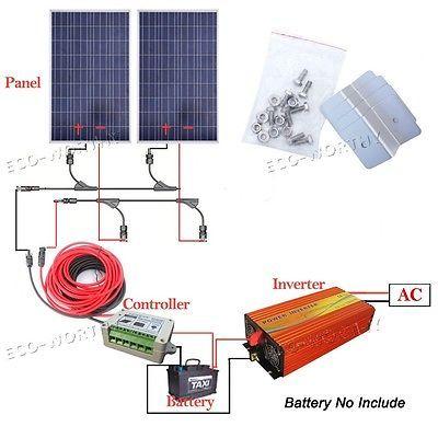 200w 300w 400w 800w Off Grid System 100w Solar Panel W 1kw 1500w 3000w Inverter Off Grid System Solar Panel System Solar Panels