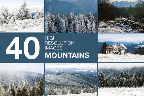Mountains collection by Romantic shop on @creativemarket