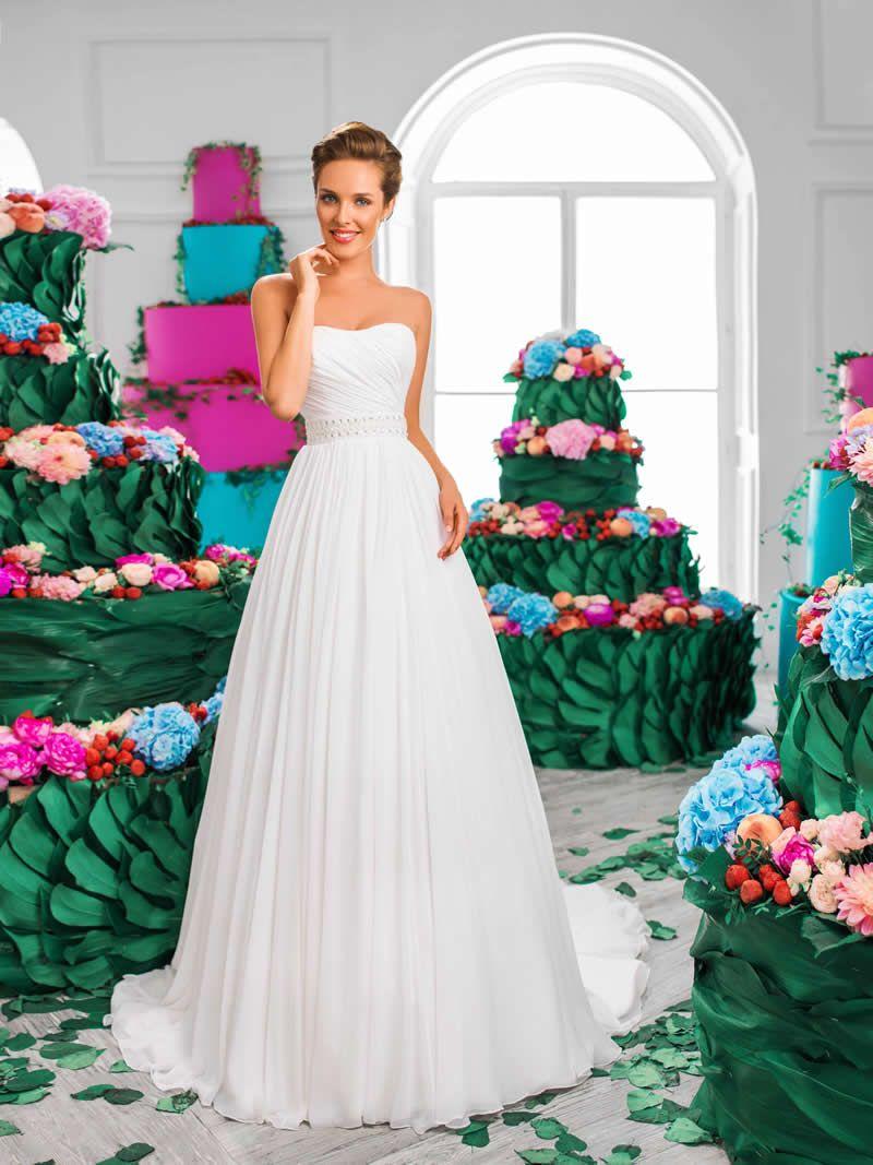 Flattering wedding dresses for plus size  Cherry wedding dress Material Chiffon Silhouette ALine Plus
