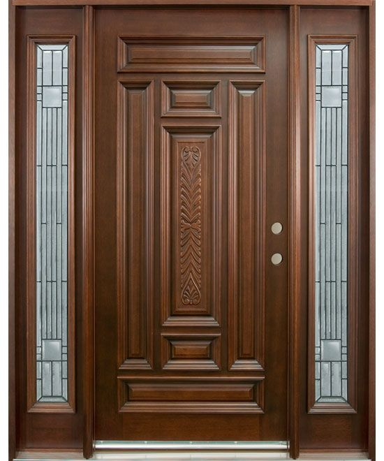 Doors Hand Carved Collection Solid Wood Entry Door Exterior Custom