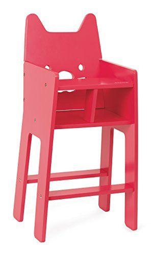 Janod Babycat Pink High Chair Janod 25 X 20 5 X 50 5 Cm Https Www Amazon Com Dp B00xawpxwa Ref Cm Sw R Pi Chaise Haute Poupee Chaise Haute Chaise Haute Bois