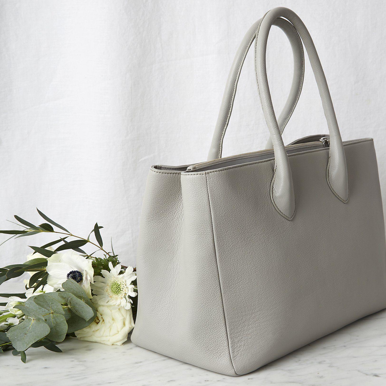 Silver leather tote bag uk - Bag