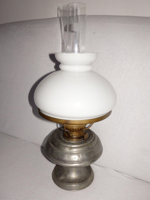 Tin Petroleum lamp, Oil lamp France, table lamp, Zinn Petroleumlampe ...