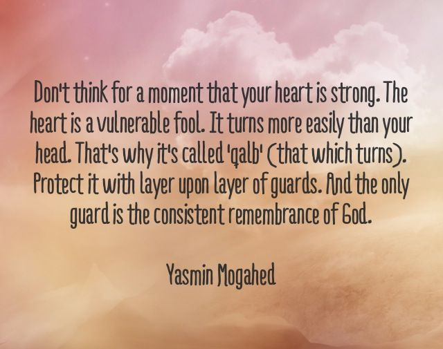 Absolutely Well Said... Guard Your Heart With Layers