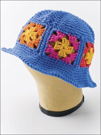 Crochet Accessories - Crochet Hat Patterns - Granny Square Crochet Hat -- Free  Pattern 3920d07cade
