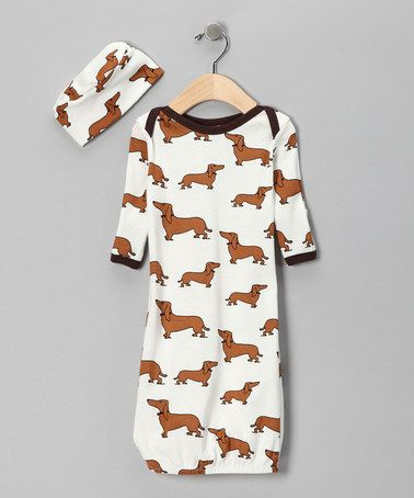 Take a look at this White Got Dogg? Gown & Beanie - Infant by Mad Boy on #zulily today!